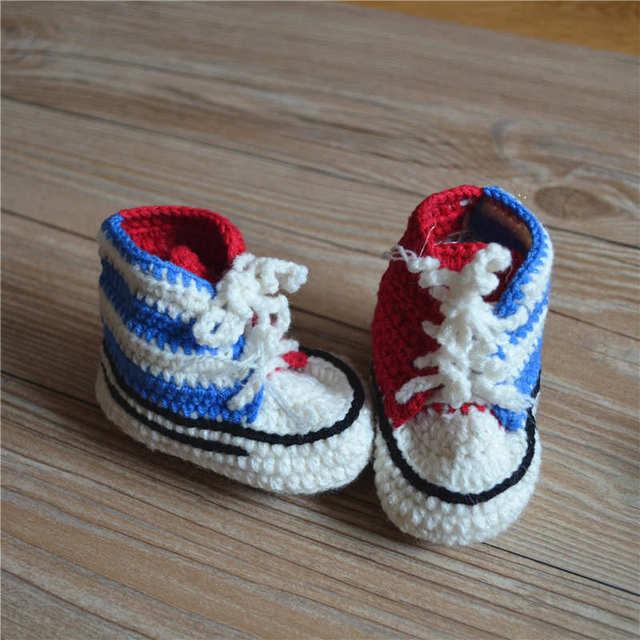 Heißer Verkauf Baby Häkeln Turnschuhe Schuhe Schuh Booties