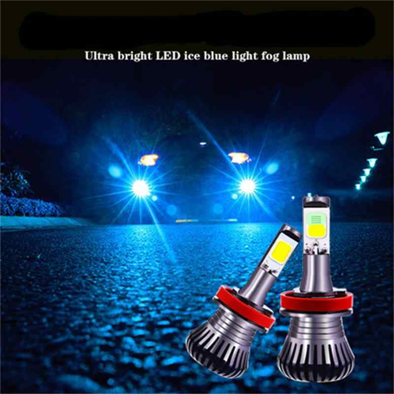 2pc Dual Color LED Fog Driving Lamp Tail Bulbs Car Turn Light DRL H3 H11 H8 H9 HB3 HB4 9005 9006 H27 880 881 White Ice Blue