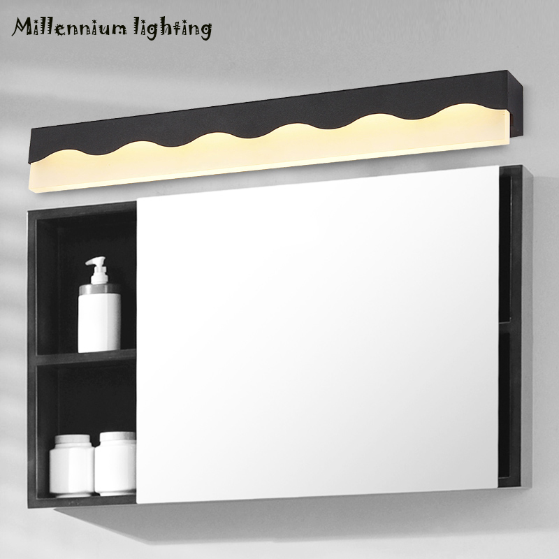 Bathroom LED Mirror Light Modern wall lamp 8W/12W AC110V-220V  Simple Style bed light black white Wall Lamps/light stairs light 8w 36cm bathroom led mirror light ac85 265v warm white led modern wall lamps white aluminum wall sconce wml002