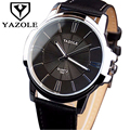 Couro moda relógio de pulso homens relógios yazole 2017 top famosa marca de luxo masculino relógio negócio relógio de quartzo relogio masculino