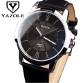 YAZOLE Fashion leather Wrist Watch Men Watches 2017 Top Brand Luxury Famous Male Clock Business Quartz Watch Relogio Masculino