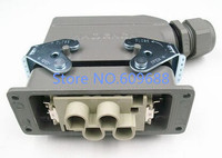 Aviation plug,Heavy Duty connector,Socket Plug Rectangle HDC HK 4/2 006M/F 6pins 80A/16A