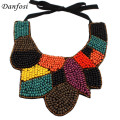 Danfosi Bohemia Style Statement Wood Bead Collar Necklace Fashion Hand Made Multicolor Choker Jewelry Women Accessories Bijoux