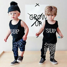 2pcs Newborn Infant Baby Boys Girls Clothes T-shirt Tops+Long Pants Outfits Set