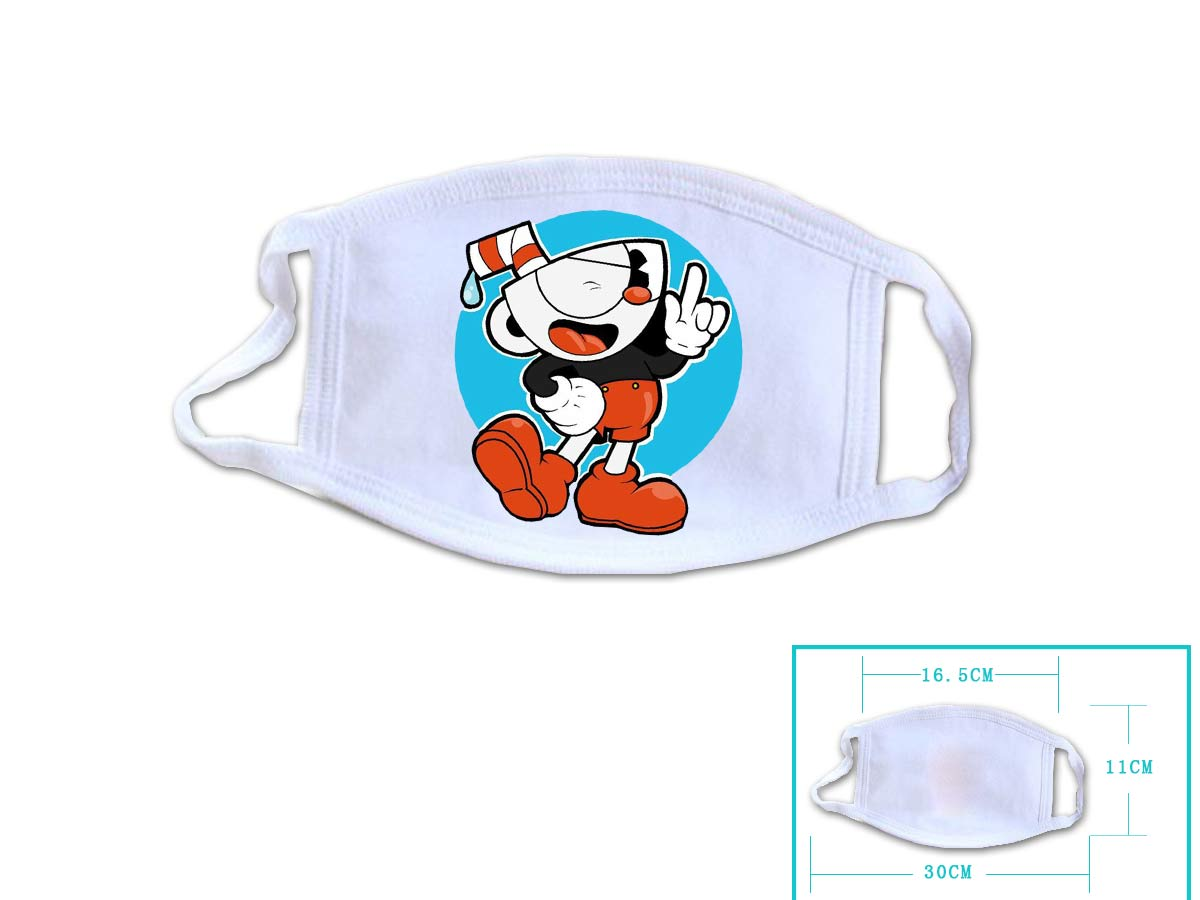 Hot Game Cuphead Cosplay White Face Collection Gift Hip Hop Fashion Mask Unisex With Cuphead Logo