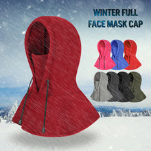 Windproof Thermal Fleece Cap Unisex Warm Winter Ski Hats Caps Winter Sports  Skiing Motorcycle Balaclava Face Mask Hiking Scarves 14dd4d7b5917