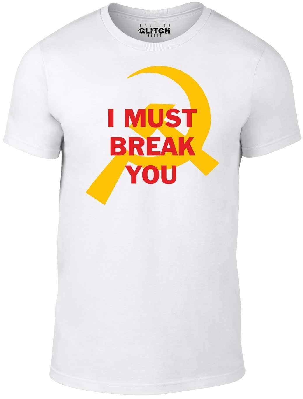 Mens I Must Break You T Shirt Rocky Boxing Ivan Drago Russian Gift Movie Cult Harajuku Tops Fashion Classic Unique t Shirt in T Shirts from Men 39 s Clothing