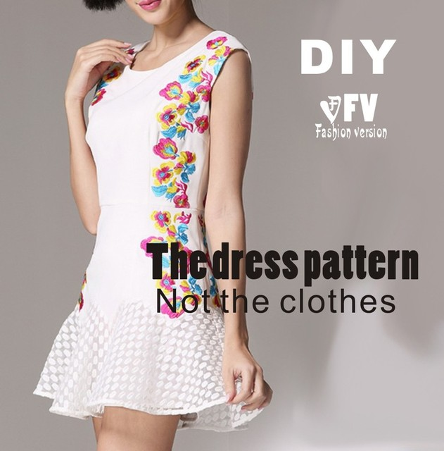 Clothing DIY The dress Dresses Sewing Pattern cutting drawing ...