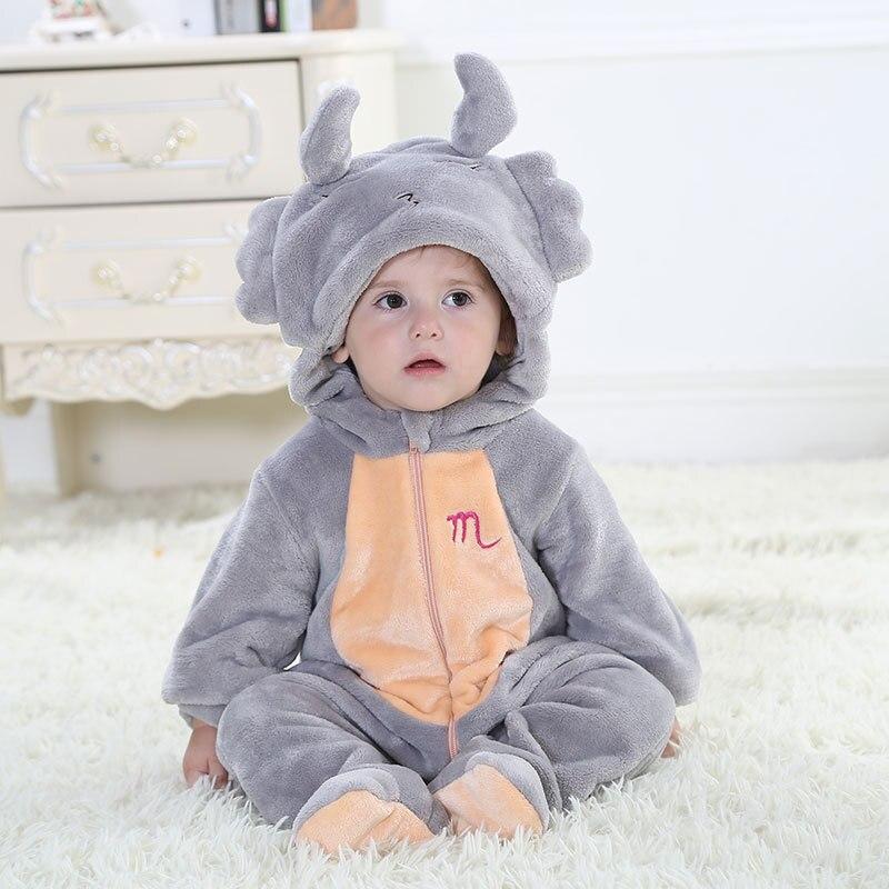 Twelve Constellation Designs Hooded Baby Blanket Sleepers Pyjamas Sleepwear  For Infant Flannel pijama pajamas Homewear onesie 96dccc725