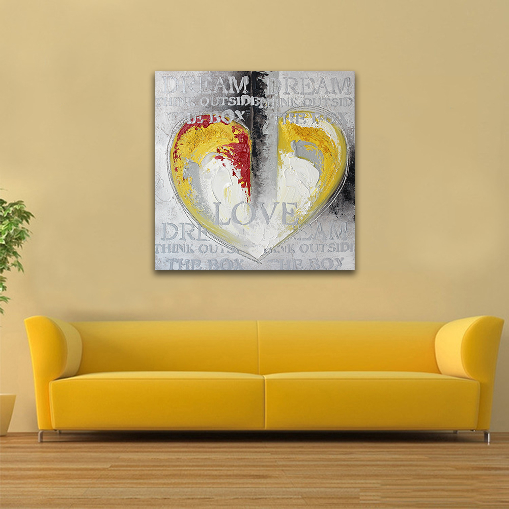 VILEAD 24 Styles Heart Unframed Square Art Painting Canvas Painting ...