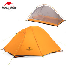 Naturehike 2 Person Double Layer Ultralight Tent Outdoor Picnic 3 Seasons Waterproof Tent Camping 20D Silicon Tent NH18A180-D 3 4 person windproof waterproof anti uv double layer tent ultralight outdoor hiking camping tent picnic tent with carrying bag