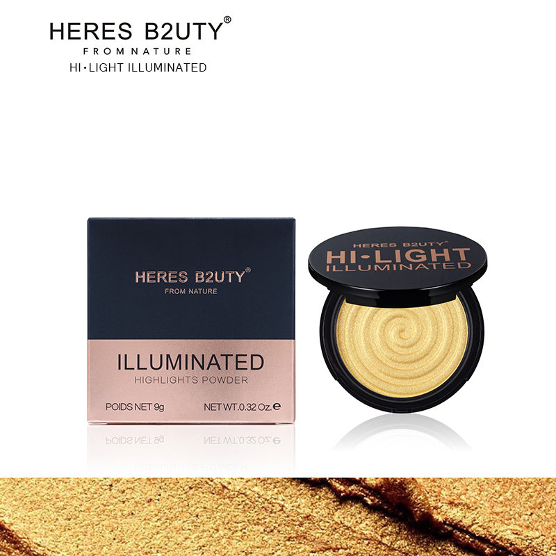 HERES B2UTY Makeup Face Highlight Matte Bronze Trimming Highlight Powder Illuminated Soft Mineral Long Lasting V Shape 4 color image