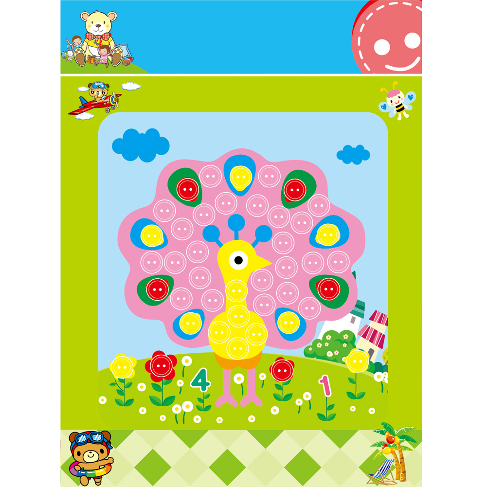 Children-Student-Learning-Educational-Drawing-Toys-Kids-Child-DIY-Button-Stickers-Picture-Handmade-Painting-Drawing-Craft-Kit-4
