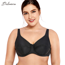 DELIMIRA Womens Plus Size Full Coverage  Non Padded Firm Support Control Underwired Bra