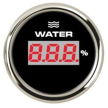Морской 52 мм Температура воды датчик цифровой, температурный метр 40-120 градусов fit Лодка Автомобильный мотор яхта корабль с 8 цветов подсветка 9-32 в