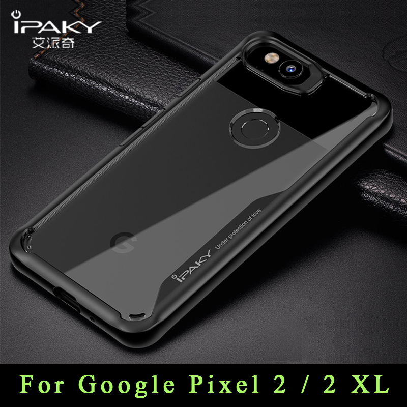 ipaky Case For Google Pixel 2 XL Case Pixel2 Cover Slim Transparent Coque For Google Pixel 2XL Silicone Shockproof Phone Cases