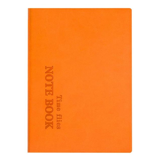 Leather Graph Paper Notebook 8 X 6 Inch 132 Sheets Orange In