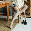 Frauen Mädchen Über Knie Hohe Socken Frühling Herbst Winter Warm Knit Weiche Oberschenkel Hohe Lange Socken Feste Candy Farbe Knie socken für Frauen