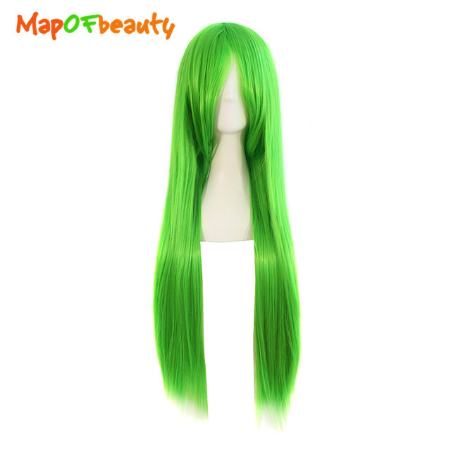 80cm Green Cosplay Wig