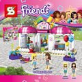 Друзья Heartlake Партия Магазин SY838 Строительный Блок Стефани Лори Девушки Развивающие Игрушки Legoes 41132 Совместимость