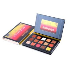 BEAUTY GLAZED Shimmer Matte Glitter Waterproof Eyeshadow Palette Makeup Powder Soft Shimmering Colors