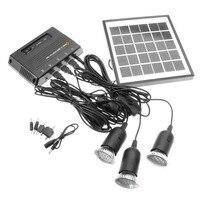 Outdoor Solar Power Led Lighting Bulb Lamp System Solar Panel Home System Kit 4W 6V Outdoor Solar Power Panel LED Light Lamp