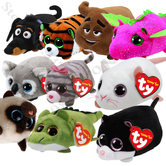 18793372fef TY Beanie Baby Stuffed   Plush Animals Black Cat Fox Unicorn Dog Siamese  Cat Doll TSUM Candy pig Stuffed Doll Blue Owl Kids Gift