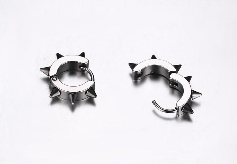 HTB1kumPKXXXXXbhXFXXq6xXFXXXJ - Men's Bold Clasp Spiked Earrings