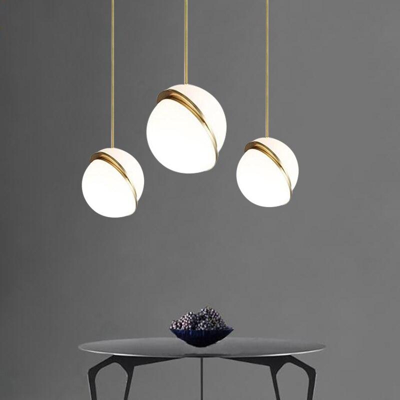 Modern White Ball LED Pendant Lights Lamp Creative Restaurant Bedroom Bedside Balcony Decor Art Pendant Lamp Lighting Fixtures