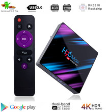 Google tv box android 9,0 H96 MAX Rockchip 4G 16 GB 32 GB 64 GB Android tv box 2,4/5,0G WiFi Bluetooth 4,0 4 K 3D iptv Android box(China)