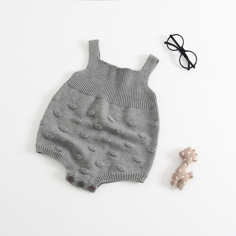 Quality Bubble Ball Baby Knitting Rompers Cute Overalls Newborn Baby Boys Clothes Infantil Baby Girl Boy Romper Jumpsuit 0-24M baby newborn boy clothes sets birthday gift boys baby romper vest tops long pants 3pcs outfits set 0 24m boys clothes romper