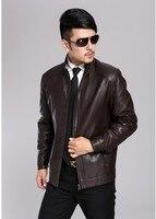 Free shipping ! New large size men's fashion winter warm genuine personality Slim Short Pure sheep Phi Jackets , (286) M 3XL