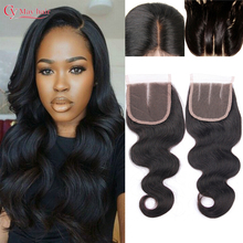 Brazilian Closure Body Wave Brazilian Lace Closure Bleached Knots Closures Natural Free Middle 3 Part Virgin Human Hair Closure