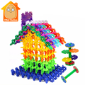 Minitudou 100 unids copo de nieve diy montaje de bloques de construcción de ladrillos de juguete educativo de aprendizaje temprano juguetes clásicos regalo de los cabritos