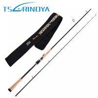 TSURINOYA 2Secs 2.28m/ML/6 18g Spinning Fishing Rod 40T Japan Carbon 3A Cork Handle Lure Rods FUJI Accessories Pesca Cane Pole