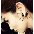 fashion individuality stereoscopic Big Black Spider Stud Earrings for men and womenFashion Ear EarringsBijoux Christmas Gift