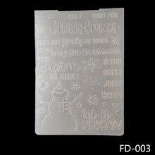 AZSG Christmas Snowflake Snowman Embossing Plates Design DIY Paper Cutting Dies Scrapbooking Plastic Folder
