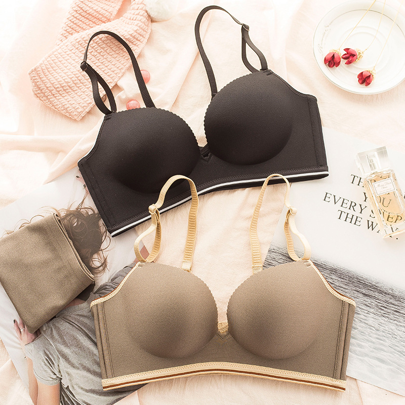 2018 hot sale non steel ring bra set comfort red underwear lady no trace thickening lingerie bra and panty set bralette set