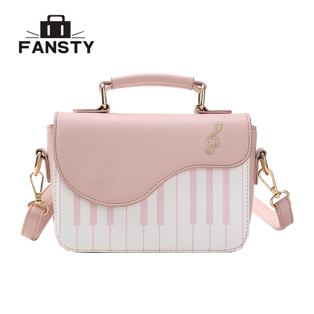 b56c271f95cc US $15.8 46% OFF|Cute Flap Women Messenger Bags Piano Music Female Bags  Crossbody Bags Handbags Hasp PU Leather Lady Floral Printing Tote Bag-in ...