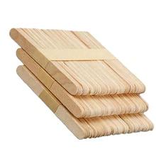 купить 20/50PCS Eco-Friendly Wooden Ice Cream Sticks Length 9.2CM Handwork Art Craft Ice Cream DIY Popsicle Sticks Kitchen Accessories дешево