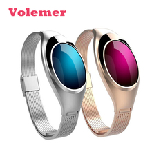 Smart Браслет женщин браслет Смарт-часы с кровью Давление монитор сердечного ритма шагомер фитнес-трекер для iOS и Android