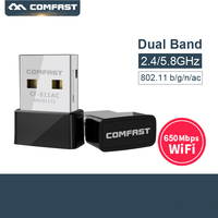 Comfast CF-811AC 650Mbps 5GHz Dual Band USB Draadloze Wifi Adapter USB Ethernet wifi dongle voor Desktop & Laptop