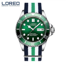 LOREO Classics Sapphire Glass Seagull Mechanical Movement Steel Fashion Luminous Waterproof Leisure Men'S Sports Watches M07