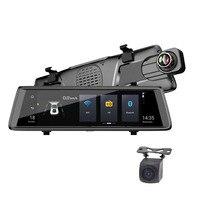 10 дюймов E05 вождение автомобиля Регистраторы потоковый медиа сенсорный экран 1080 P Dvr 4G Android Adas камера заднего вида Камера навигатор