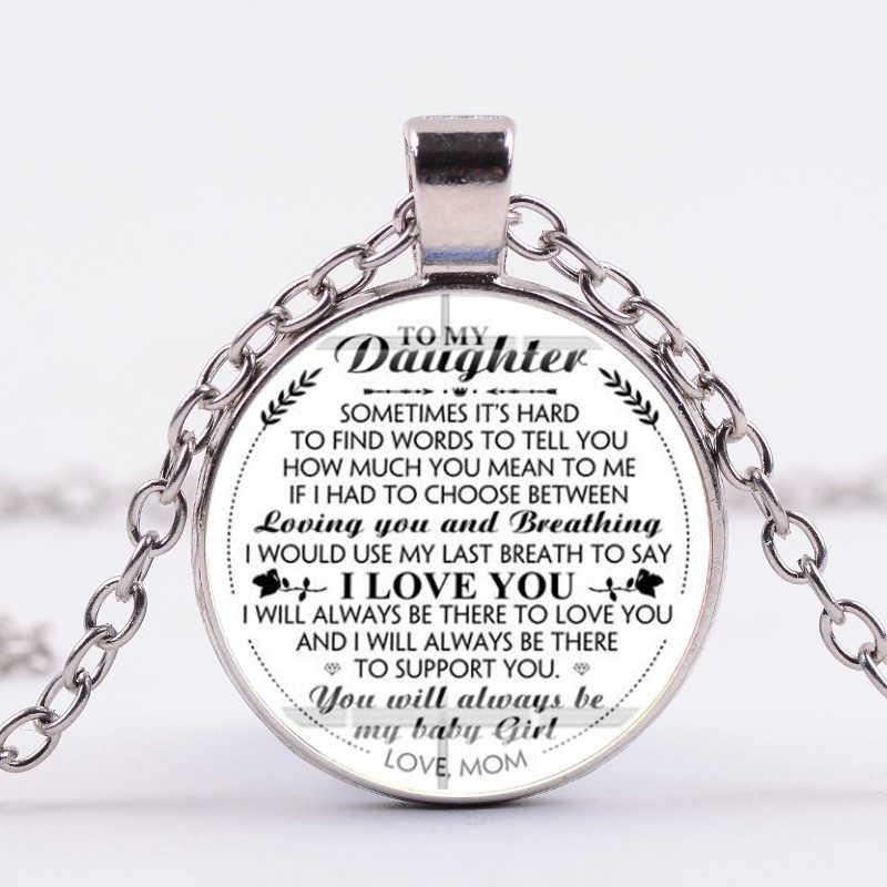 SIAN papá mamá a mi hija carta arte foto colgante collar creativo cumpleaños regalo familia hecho a mano collar largo cita joyería