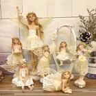 resin Angel sculpture Beautiful Girl Love music play the vilion Flower fairy Gareden Figurines wedding gift home decoration