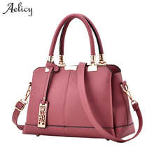 a012c0fb2d5e Aelicy Bag Women Pu Leather Tote Brand Name Bag Ladies Handbag Lady Evening  Bags Solid Female