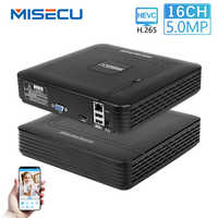 MISECU H.265 Mini NVR Full HD reale P2P 16CH/8CH 5MP 16CH 1080P Video Recorder Movimento Rileva ONVIF per IP Sistema di Telecamere di Sicurezza