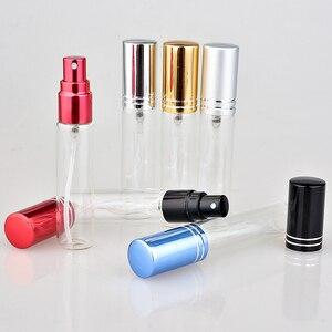 Image 5 - Botella de Perfume de cristal colorida portátil, con atomizador, envases cosméticos vacíos para botellas de viaje, 10ML, 20 unids/lote