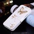 Para el iphone caja del teléfono sí 5S iphone 6 s plus diamante incrustado flip funda de cuero/cubierta de la caja de plástico para samsung galaxy s7 s6 S5